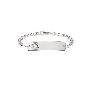 American Medical ID Womens Silver Classic Bracelet