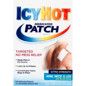 Icy Hot Medicated Ankle Neck and Leg Patch, 5CT