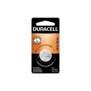 Duracell 2025 3V Lithium Coin Battery with Bitter Coating, 1/PK