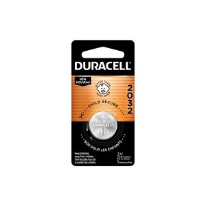 Duracell 2032 3V Lithium Coin Battery with Bitter Coating, 1/PK