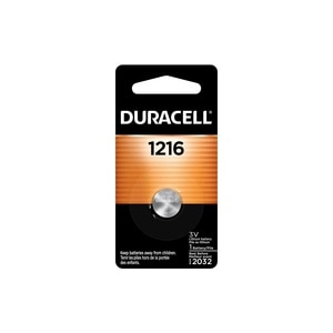 Duracell 1216 3V Lithium Coin Battery, 1/PK