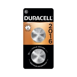 Duracell 2016 3V Lithium Coin Battery with Bitter Coating, 2/PK