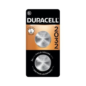 Duracell 2032 3V Lithium Coin Battery with Bitter Coating, 2/PK