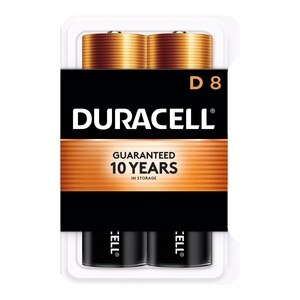 Duracell Coppertop D Alkaline Batteries 1.5 Volt