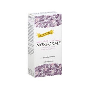 Norforms Long Lasting Feminine Deodorant Suppositories Island Escape
