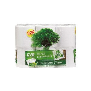 CVS Earth Essentials Bathroom Tissue 1000 Sheets 12-Pack