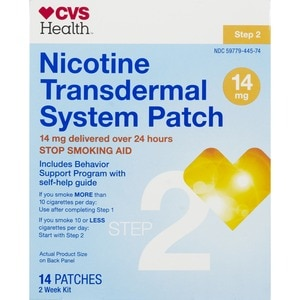 CVS Nicotine Transdermal System Patches 14 Mg Step 2