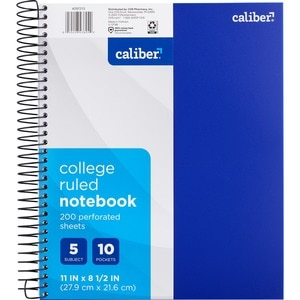 CVS 5 Subject College Ruled Notebook