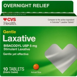 CVS Health Gentle Laxative Bisacodyl USP Tablets 5mg