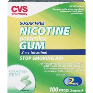 CVS Nicotine Polacrilex Gum 2 Mg Cool Mint