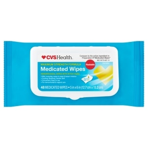 CVS Flushable Medicated Wipes Refill Pack