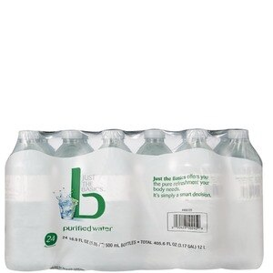 Just The Basics Purified Water 24 Pack, 16.9 OZ