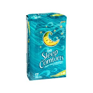 CVS Sleep Comforts Night Time Underpants Small/Medium 38-45 Lbs