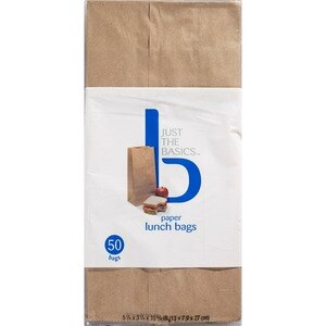 Just The Basics Paper Lunch Bags
