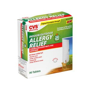 CVS Indoor/Outdoor Allergy Relief 10 Mg Tablets