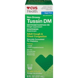CVS Sugar Free Tussin Cough Adult Cough & Chest Congestion Liquid
