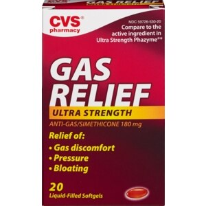 CVS Ultra Strength Gas Relief 180 mg Softgels