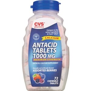 CVS Antacid Tablets 1000 mg Chewable Assorted Berries