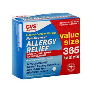 CVS Allergy Relief Loratadine 10 mg Tablets Value Size