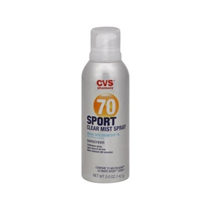 CVS Sport Clear Mist Spray Broad Spectrum Sunscreen SPF 70