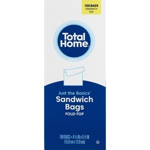 Just The Basics Fold-Top Sandwich Bags
