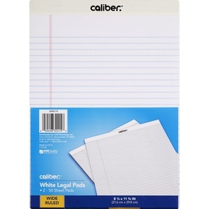 Caliber Legal Pads White