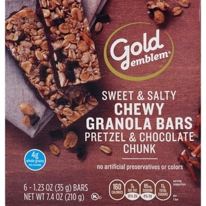 Gold Emblem Pretzel and Chocolate Chunk Sweet and Salty Chewy Granola Bars, 6CT