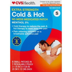 CVS Health Extra Strength Cold & Hot Medicated Patches 5CT, Small