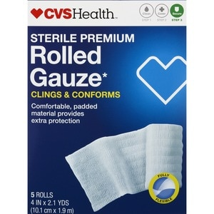 CVS Health Sterile Premium Latex-Free Rolled Gauze 5CT