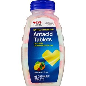 CVS Health Antacid Tablets Extra Strength Assorted Berries, 96CT