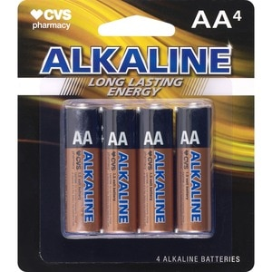 CVS Alkaline Batteries AA 4-Pack