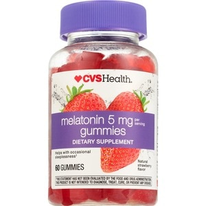 CVS Great Tasting Melatonin Gummy Sleep Aid Strawberry