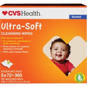 CVS Health Ultra Soft Cleansing Wipes Refills