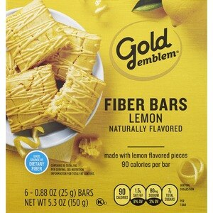 Gold Emblem Lemon Fiber Bars, 6CT