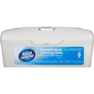 Total Home by CVS  Flushable Moist Wipes Tub