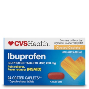 CVS Health Ibuprofen 200mg Coated Caplets