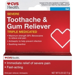 CVS Health Maximum Strength Oral Pain Reliever Gel for Severe Toothaches