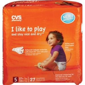 CVS Ultra Soft Diapers Size 5 (27+ lbs)