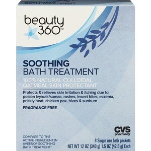 Beauty 360 Soothing Bath Treatment Packets, 12 OZ