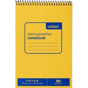 "Caliber Stenographer Notebook 6"" x 9"""
