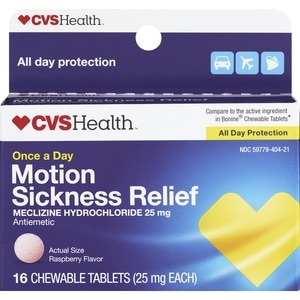 CVS Motion Sickness Relief Raspberry Flavored Tablet