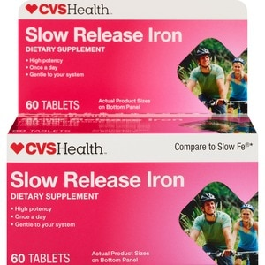 CVS Health Slow Release Iron Supplement Tablets