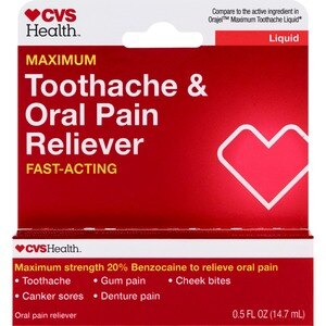 CVS Health Oral Pain Reliever for Severe Toothaches, Maximum Strength