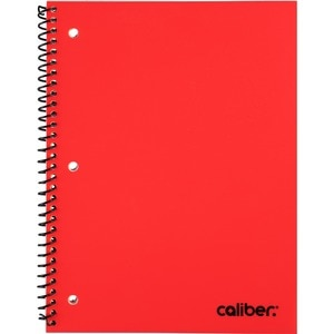 Caliber Poly Spiral Notebook, Assorted Colors