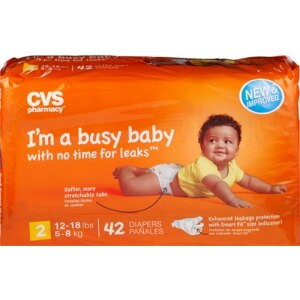 CVS Ultra Soft Diapers Size 2 (12-18 lbs)