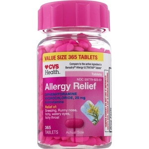 CVS Health Allergy Relief Diphenhydramine Tablets, 10CT