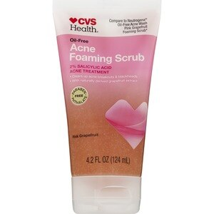 CVS Oil-Free Acne Foaming Scrub Pink Grapefruit, 4.2 OZ