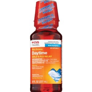 CVS Non-Drowsy Daytime Multi-Symptom Cold/Flu Relief Liquid