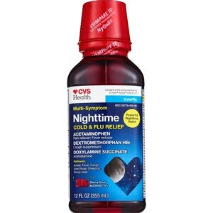 CVS Multi-Symptom Nighttime Cold/Flu Relief Liquid Cherry