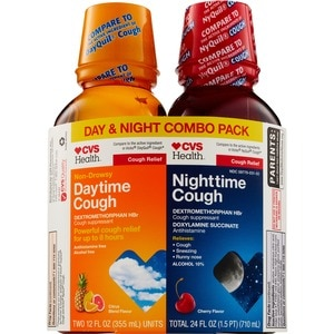 CVS Non-Drowsy Daytime & Nighttime Cough Relief Liquid Twin Pack